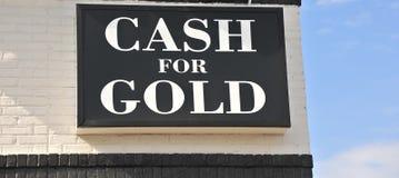 Dinheiro para o ouro Imagens de Stock Royalty Free