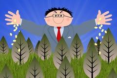 Dinheiro para a terra Imagem de Stock Royalty Free