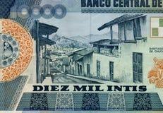 Dinheiro peruano velho foto de stock
