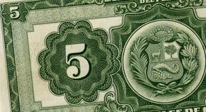 Dinheiro peruano velho Imagem de Stock