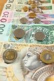 Dinheiro polonês Fotografia de Stock