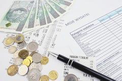 Dinheiro polonês Imagem de Stock