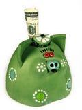 Dinheiro-porco (verde) Fotos de Stock Royalty Free