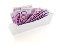 Dinheiro preto no envelope Foto de Stock Royalty Free