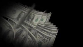 Dinheiro que conta 100 e 1 dólares ilustração royalty free