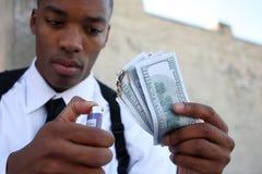 Dinheiro a queimar-se Fotografia de Stock