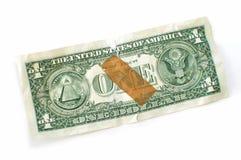 Dinheiro rasgado Foto de Stock Royalty Free