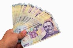 Dinheiro realizado na mão Imagem de Stock