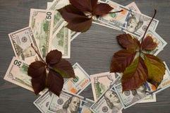 Dinheiro retro Dólares de América do dinheiro imagens de stock royalty free