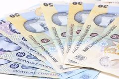 Dinheiro romeno Imagens de Stock