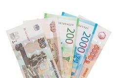 Dinheiro rubles imagens de stock