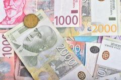 Dinheiro sérvio RSD Imagem de Stock Royalty Free