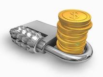Dinheiro seguro Foto de Stock