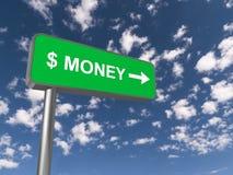 Dinheiro Sign Fotografia de Stock Royalty Free