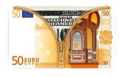 Dinheiro sob a forma da bolsa Fotografia de Stock
