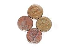 Dinheiro soviético velho. Imagens de Stock
