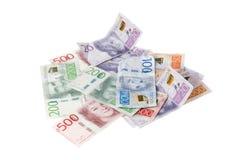 Dinheiro sueco no branco Fotos de Stock Royalty Free