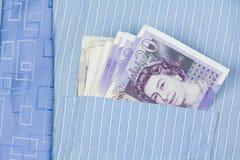Dinheiro superior do bolso Foto de Stock Royalty Free