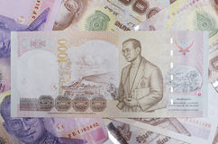 Dinheiro tailandês do baht do dinheiro Fotografia de Stock Royalty Free