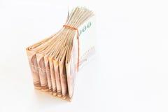 Dinheiro tailandês isolado imagens de stock royalty free