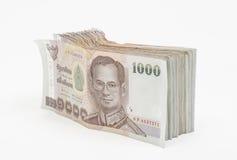Dinheiro tailandês isolado fotografia de stock