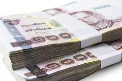Dinheiro tailandês isolado Foto de Stock Royalty Free