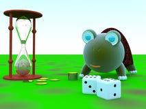 Dinheiro, tempo, sabedoria Imagem de Stock