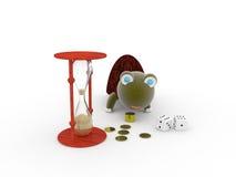 Dinheiro, tempo, sabedoria fotografia de stock