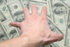 Dinheiro. Todo meu! fotografia de stock royalty free