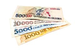Dinheiro velho brasileiro imagens de stock royalty free