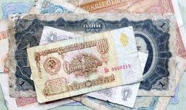 Dinheiro velho de URSS Lenin rubles Imagem de Stock