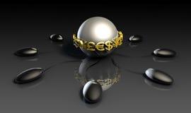 Dinheiro virtual ilustração royalty free