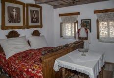 Interior at one farmhouse of serbian ethnics in Banat region, Ro Stock Photo
