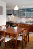 Dinig room. Dining room combined with kitchen Stock Image