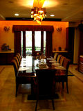The Dining. A beautiful dining room in a house Royalty Free Stock Image