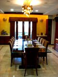 The Dining. Beautiful dining room of a house Royalty Free Stock Photography