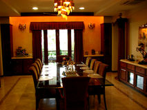 Dining. Beautiful dining room of a house Royalty Free Stock Photo