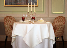 Dining. Romantic Fine Dining for Two Royalty Free Stock Images
