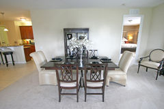 Dining Area. An Interior Shot of a Dining Area Royalty Free Stock Photos