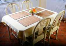 Dining area. Table, and four chairs Royalty Free Stock Photo