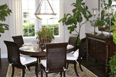 Dining Area. An elegant dining area in a Californian house Stock Photos