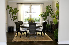 Dining Area. An elegant dining area in a Southern Californian home Royalty Free Stock Image