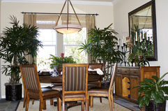Dining Area. A well decorated dining area in a California house Royalty Free Stock Photos