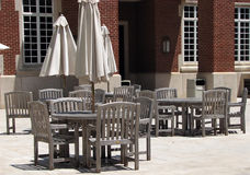 Dining area. At a college campus Stock Photography