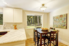 Dining area in bright kitchen room Stock Photo