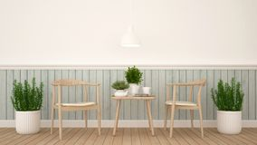 Dining area or coffee shop - 3D Rendering Stock Photos