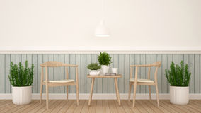 Dining area or coffee shop - 3D Rendering Stock Image