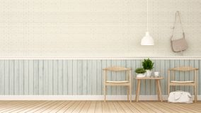 Dining area in coffee shop or restaurant - 3D Rendering Stock Image