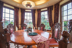 Dining area in colonial style Royalty Free Stock Photography