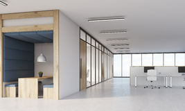 Dining area, cubicles and meeting room Royalty Free Stock Photo